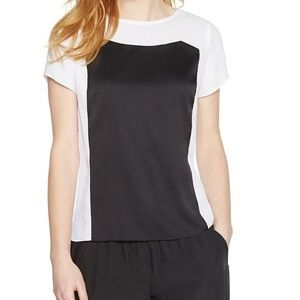 White House Black Market-  Colorblock Blouse-Sz 6